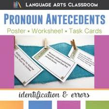 pronoun antecedent agreement activities worksheets powerpoint