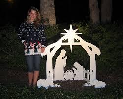 Christmas Outdoor Decorations To Buy by Amazon Com Teak Isle Christmas Outdoor Nativity Set Yard
