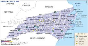 nc state map carolina state map