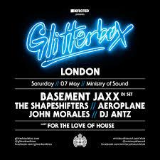 glitterbox brings basement jaxx to ministry of sound this saturday