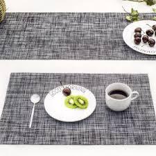large plastic table mats china pvc placemats heat resistant placemats washable table mats