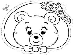 masque ours ami oui oui a colorier découpage a imprimer