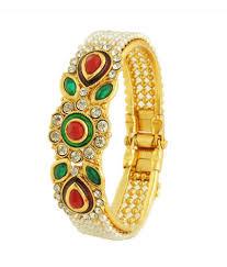Buy Designer Gold Plated Golden Luxor Alloy Gold Plated Kundan Bangles Set Buy Luxor Alloy Gold