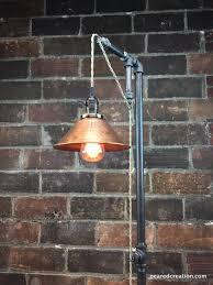 Steampunk Furniture Industrial Floor Lamp Copper Shade Edison Bulb