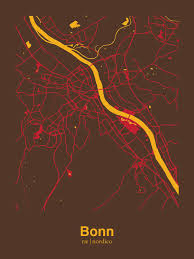 Bonn Germany Map by Bonn Germany Map Print Interior Design Pinterest Products