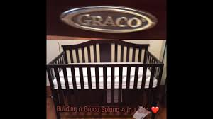 graco freeport convertible crib instructions 1st time mommy building a graco solano 4 in 1 crib youtube