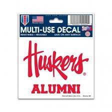 alumni decal nebraska alumni decal lawlor s custom sportswear
