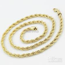 gold chain necklace rope images 2018 mens boys 18k gold filled rope chain necklace gf jewelry gift jpg