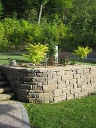 retaining wall systems from luedtke landscaping