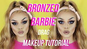 bronzed barbie drag makeup tutorial