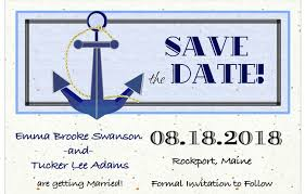 nautical save the date save the date cards mysty and designs