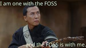 Meme Source - does this star wars meme about free and open source software foss
