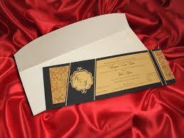 Special Invitation Cards Gold U0026 Grey Single Sheet Wedding Invitation Card Ba5407 1 75