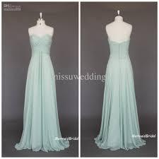 sage cheap long bridesmaid dresses sweetheart empire full length