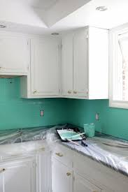 how to paint glass backsplash painting tile countertops before and