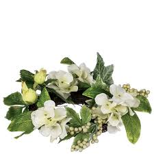 Candle Rings 4 5 Inch Hydrangea Berry Floral Candle Rings