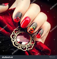 halloween nail art design nail polish stock photo 326256959