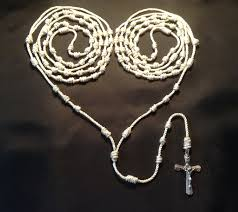 wedding lasso rosary wedding lasso knotted twine rosary with metal crucifix