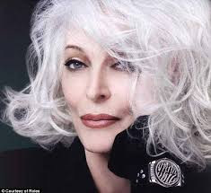 hairstyles for 80 year olds grey is the new black designer uses 81 year old model to front