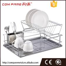 Dish Rack And Drainboard Set 2 Tier Stainless Steel Dish Drainer 2 Tier Stainless Steel Dish