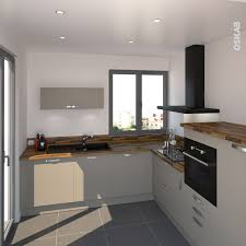 petit coin cuisine cuisine gris taupe en l pièce semi ouverte de style