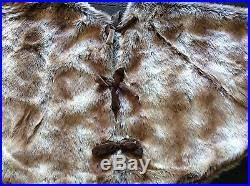 brown christmas tree skirt miller 52 faux brown fox fur christmas tree skirt 2
