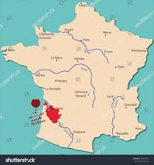 Orleans France Map by Map Wine Region Bordeaux France Stock Vector 193077242 Shutterstock