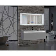 Illuminated Bathroom Wall Mirror - bathroom wall mirrors white rustic home decorwall mirror milano