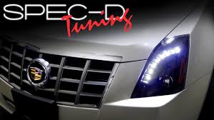 cadillac cts lights specdtuning installation 2008 2013 cadillac cts projector