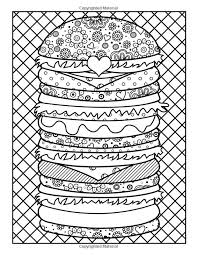 hamburger coloring page coloring pages for adults pinterest