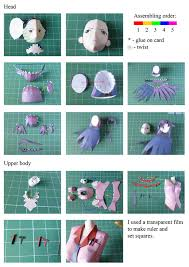 Paper Craft Steps - hitagi papercraft 盞 how to make a paper model 盞 papercraft on cut