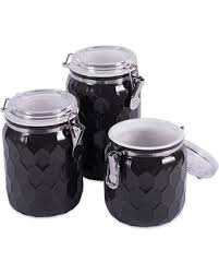 black kitchen canisters new savings are here 33 dii 3 modern honeycomb half