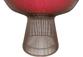 Warren Platner Chair 60s Bronze Frame Chair By Warren Platner For Knoll Modernism