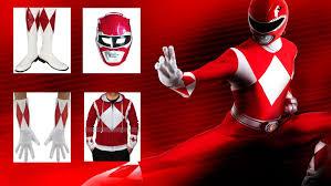 power ranger costume shirt hoodie gloves u0026 helmet