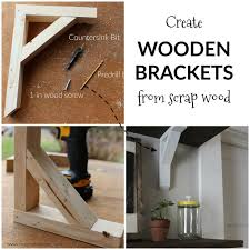 Building Wood Shelf Brackets by The 25 Best Wooden Shelf Brackets Ideas On Pinterest Farmhouse