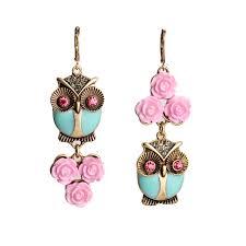 accessorize earrings wholesale accessorize brand fashion wisdom green owl pink