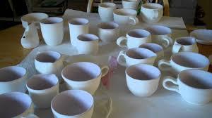 Handmade Tea Cups - kiln opening 6 sets of handmade tea cups saucers creamers