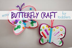toddler approved easy butterfly craft for toddlers