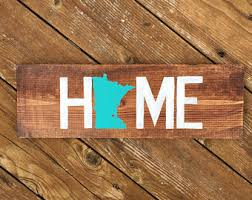 state wood sign etsy