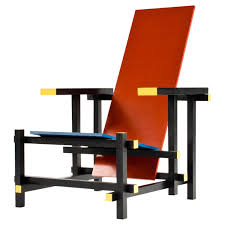red and blue chair in the manner of gerrit rietveld at 1stdibs