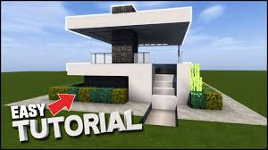 minecraft house tutorial small modern house best house tutorial