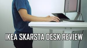 Standing Desks Ikea by Ikea Skarsta Sit Stand Desk Review Youtube