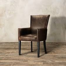 Leather Dining Room Chairs Pottery Barn Elliot Leather Dining Chairs Side Arm And