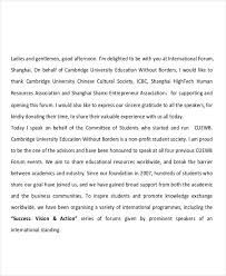 7 thank you speech exles sles pdf doc