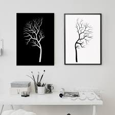 aliexpress buy black white tree canvas painting poster wall