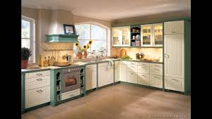 two color kitchen cabinets ideas with colorful toned fresh green