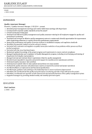 sample resume for quality assurance manager resume ideas