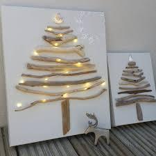christmas christmas tree books diy original driftwood christmas tree on canvas by sundaebest