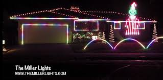 ribbon lights rgb pixel house and roof outline