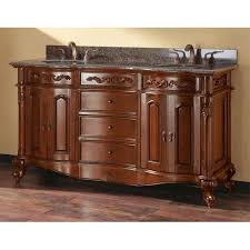 Cherry Vanity Rattan Wood Bathroom Furniture Bellacor
